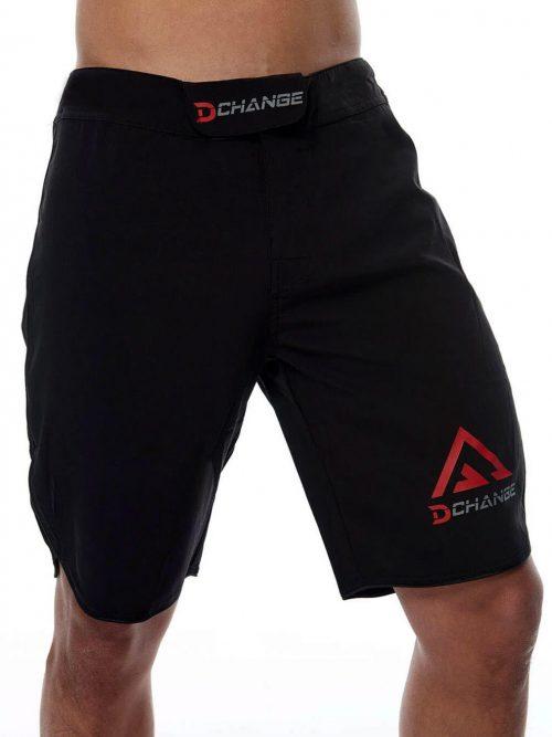 Svarta boxnings byxor med borrelås. Rea träningsshorts herr som fungerar som gym shorts och mma shorts. Det är även crossfit shorts.