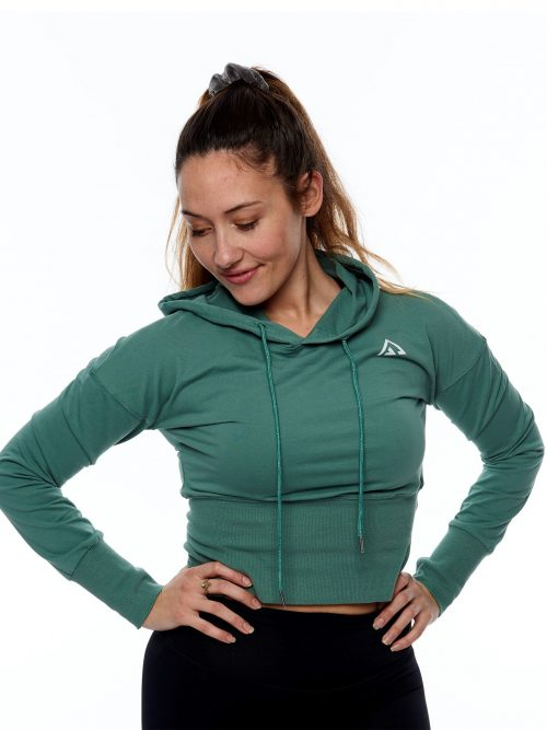 Mintgrön Kort Sweatshirt