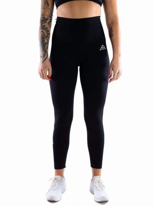 Jet black seamless tights