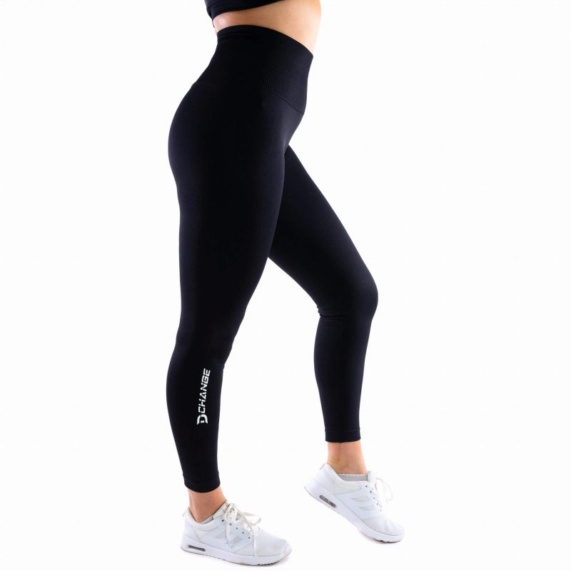 Jet black seamless tights