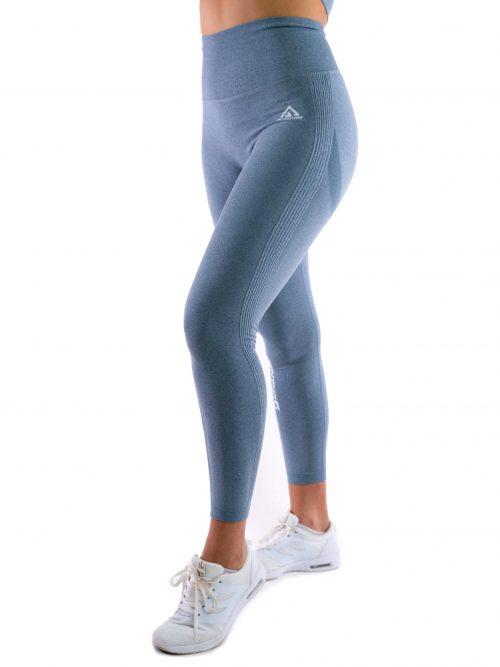 Steel blue seamless tights