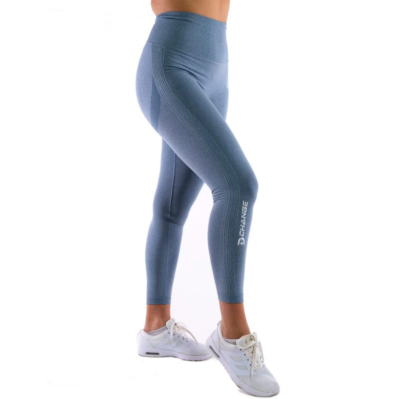 Steel blue seamless tights
