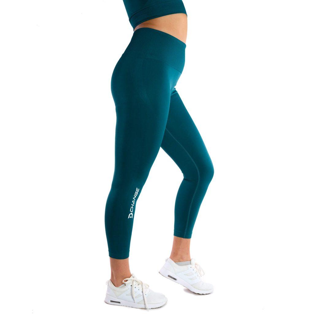 Pine green seamless tights
