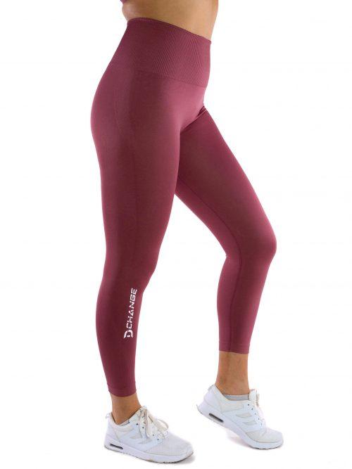Cerise pink seamless tights