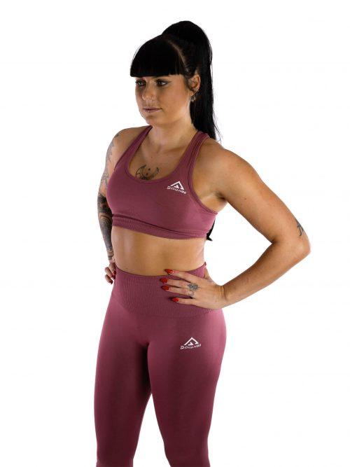 Cerise pink sport-bh medel support