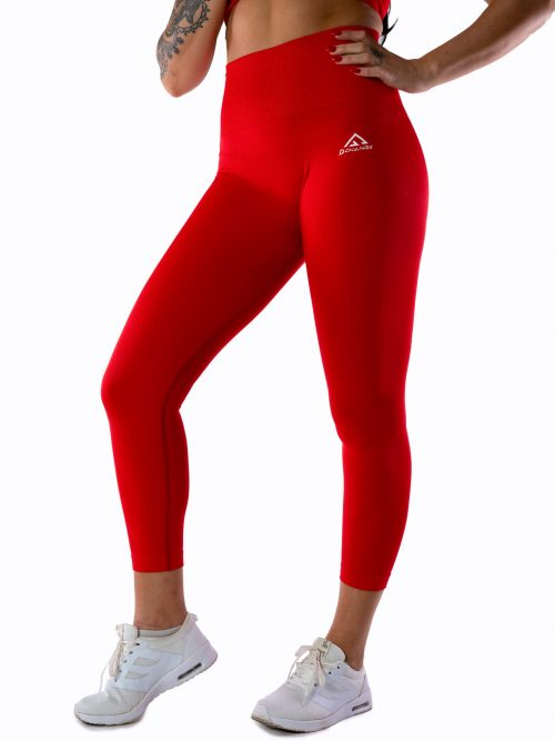 Scarlet red seamless tights