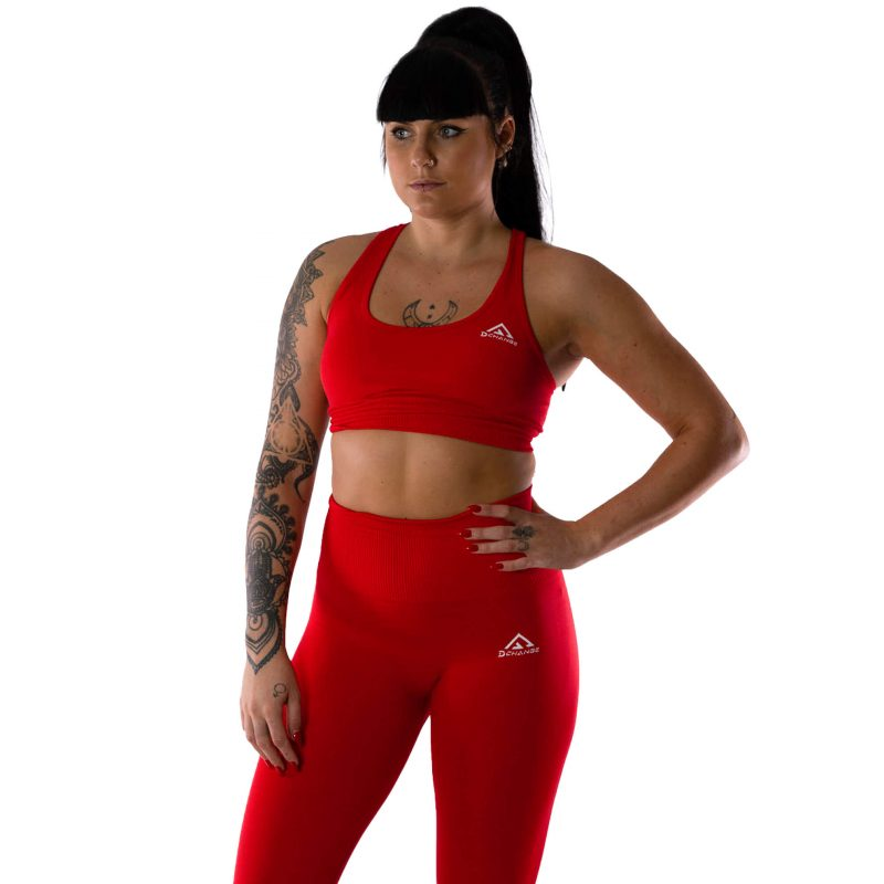 Scarlet red sport-bh medel support