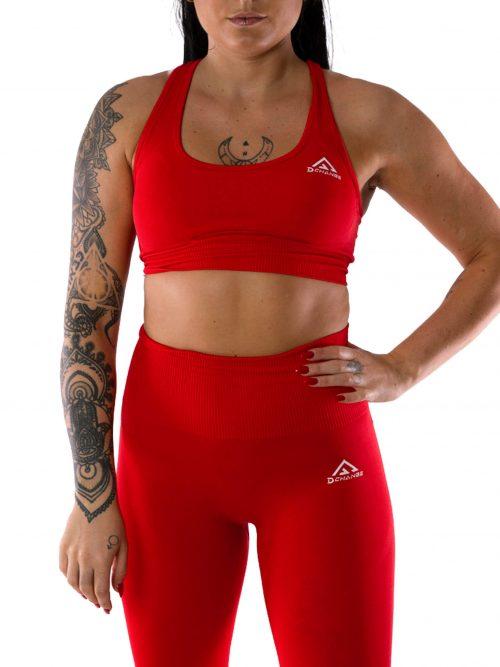 Scarlet red sport-bh medel support