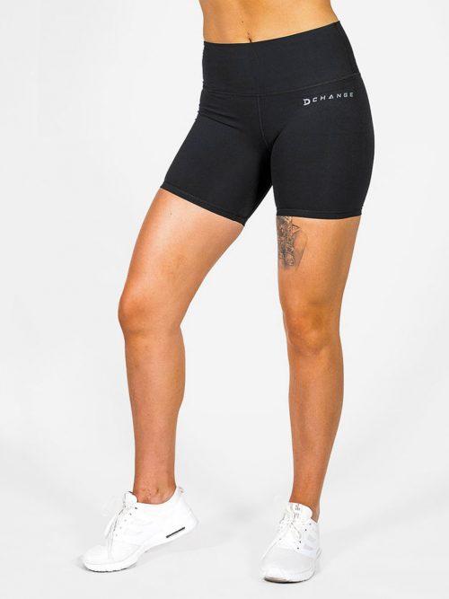 Svarta träningsshorts. Mattsvarta träningsshorts för crossfit och gym.