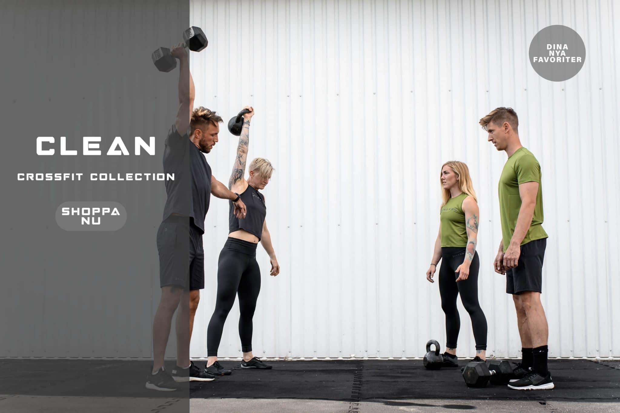 Crossfit kläder, ekologiska träningskläder, miljövänliga träningskläder, ny kollektion